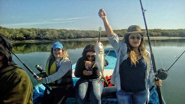 Ladies fishing day in the Estero
