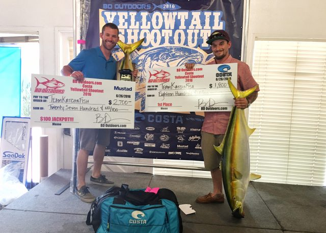 2016 Yellowtail Shootout Tournament winner