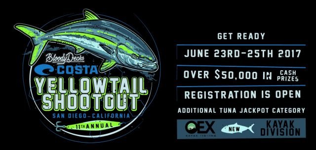 2017 Yellowtail Shootout Tournament Information