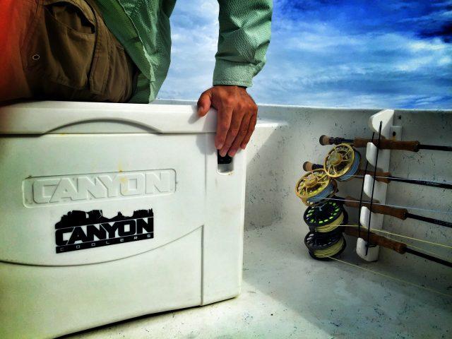 canyon fishing cooler white