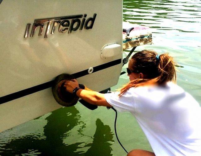 Alex Kay boat detailing