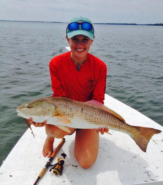 Alex Kaye redfish fishing