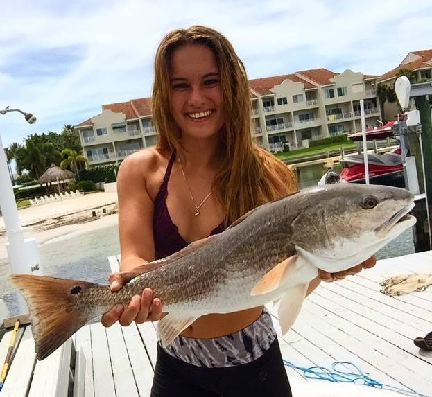 girls fish