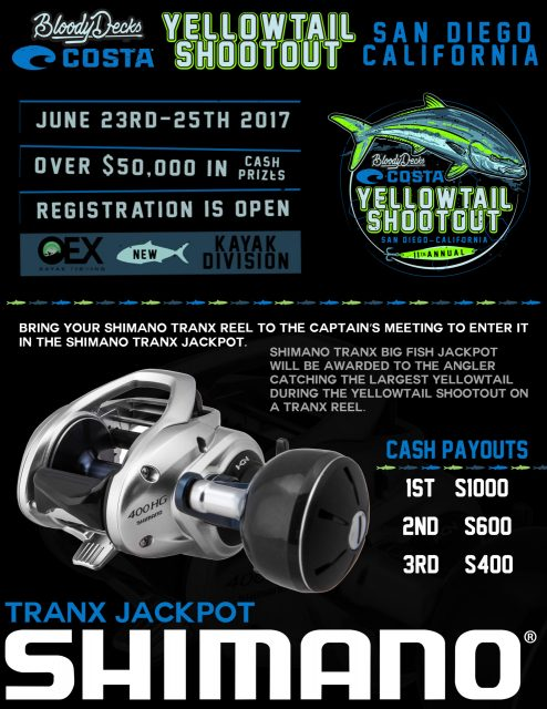 tranx jackpot Yellowtail Shootout