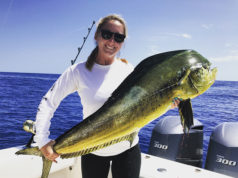 Lauren Parker Fishing Chick caught dorado
