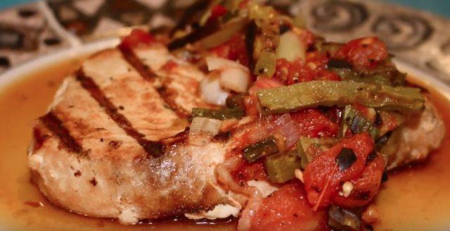 fish recipes Cactus Salsa & Grilled Swordfish - grilled swordfish easy recipe