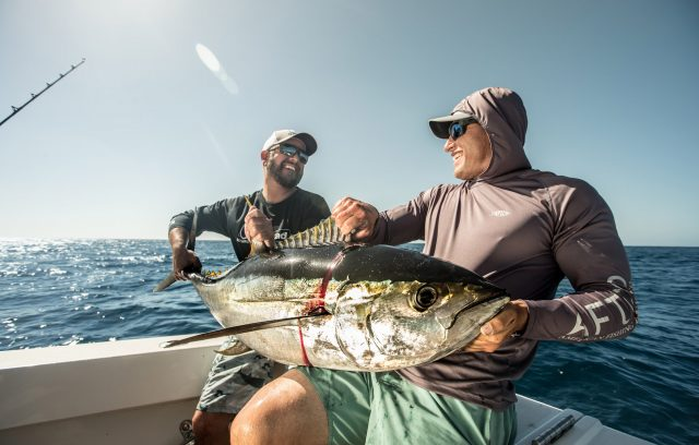 Local Knowledge crew tangles with giant yellowfin tuna