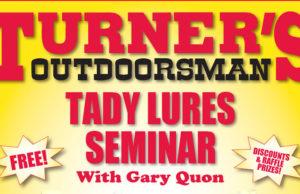 Tady Lures Seminar Turner's Outdoorsman