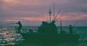 PE-at-Sunset seabass foam water fishing