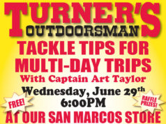 Tackle Tips Seminar For Multi-Day Trips From Turner's