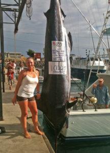 Molly Palmer 1,022 pound marlin