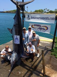 "Hawaii tournament history when Capt. Bryan Toney and team on ""Marlin Magic"" landed a check for $219,522.00"