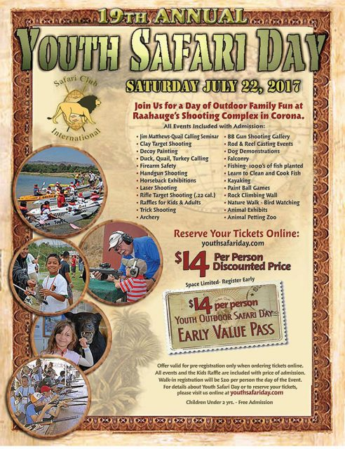Youth Safari Day plan