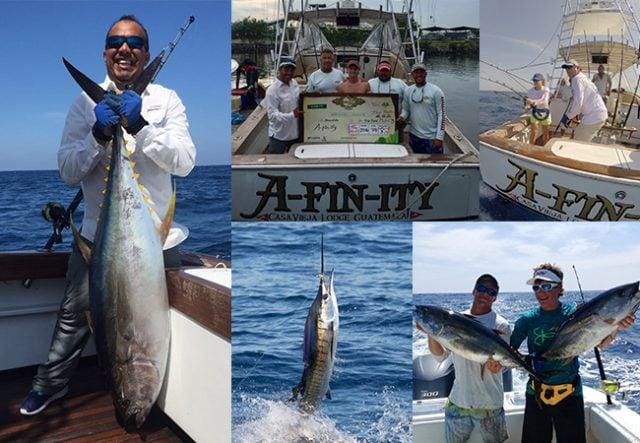 Capturing sailfish and yellowfin