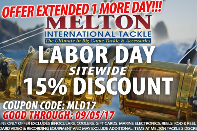Melton International Tackle Labor Day Sale