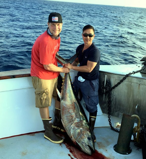 Offshore tuna aboard the Pacific Queen
