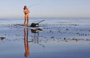 Paddleboard fishing
