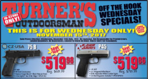 Turner's Wednesday sale
