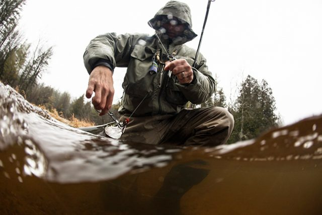 winter fly fishing with fluorocarbon