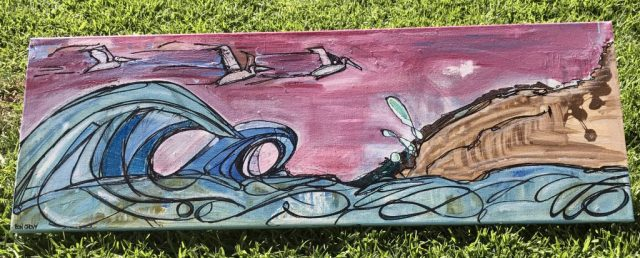 ocean scene painting