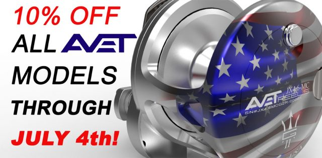 Avet Reels Summer Holiday Sale