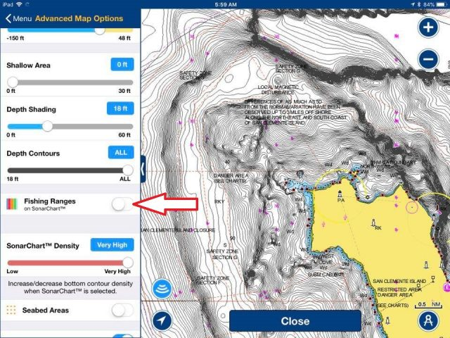 Using Navionics Fishing Ranges New Spots - Bdoutdoors