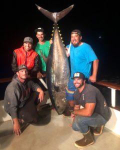 biggest bluefin tuna in California waters 363 pounder aboard the American Angler