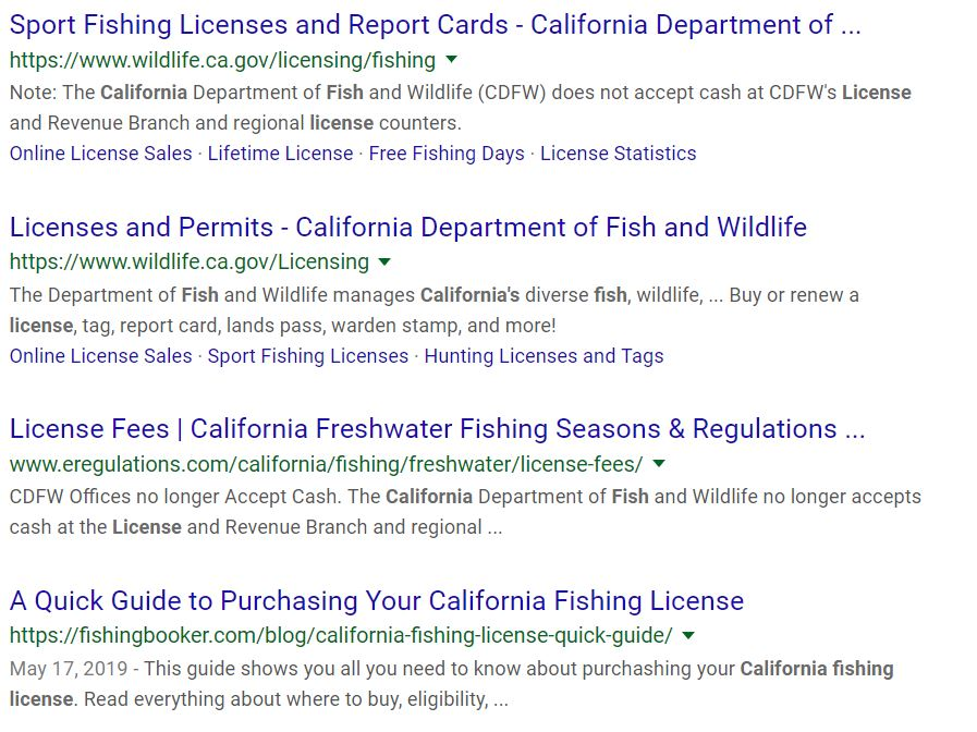 SCAM Fishing License Website CDFW Warns Anglers | BDoutdoors